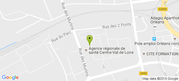 303b769c065 Plan d accès ARS Centre Val-de-Loire