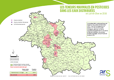 Carte 41 pesticides eaux distribuées - 2016